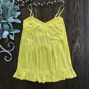 Juicy Couture Yellow Cotton Tank